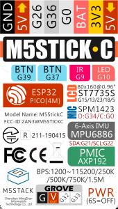 M5StickC Pinout