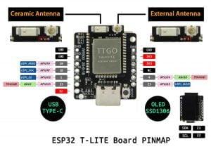 Lilygo TTGO T-Lite W5500 ESP32 Mini Developmentboard mit USB-C